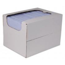 Sopdoeken 140 gr/m², 40 x 38 cm, kleur blauw, 50 stuks in dispenserdoos