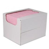 Sopdoeken 140 gr/m², 40 x 38 cm, kleur roze, 50 stuks in dispenserdoos