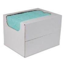 Sopdoeken 140 gr/m², 40 x 38 cm, kleur groen, 50 stuks in dispenserdoos