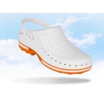 Wock Clog hygiëne klomp, kleur wit/oranje