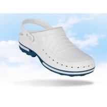 Wock Clog hygiëne klomp, kleur wit/blauw