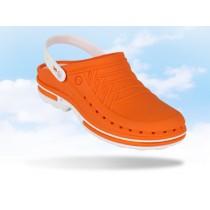 Wock Clog hygiëne klomp, kleur oranje/wit