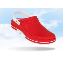 Wock Clog hygiëne klomp, kleur rood/wit