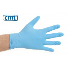 CMT Nitrile onderhoudshandschoenen poedervrij, kleur blauw (doos 100 stuks)