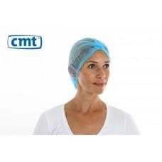 CMT Haarnetjes ClipCap wokkel, kleur blauw, maat M (doos 10 x 100 stuks)