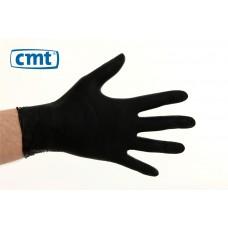 Soft Nitrile onderzoekshandschoenen poedervrij, kleur zwart (dispenserdoos 100 stuks)