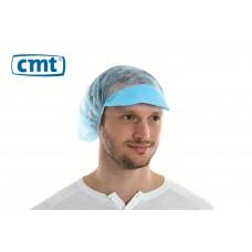 Haarnetjes met klep Peaked Bouffant Caps, kleur blauw, maat universeel (doos 10 x 100 stuks)