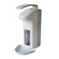 Cleen Medical ABS Zeepdispenser met elleboogbediening en lekbak | Navulbaar | 1000 ml | kleur wit