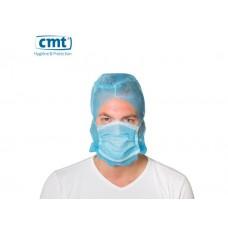 CMT Astrocap met 2-laags mondmasker, kleur blauw (doos 10 x 50 stuks)