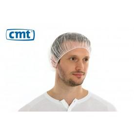 Haarnetjes Bouffant Caps (plat), kleur wit, 50 cm (universeel) (doos 10 x 100 stuks)