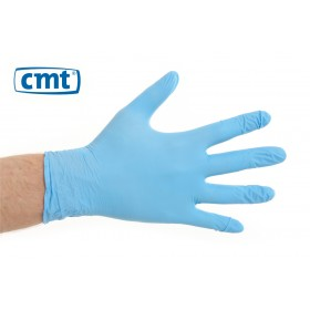 Nitrile onderzoekshandschoenen poedervrij, kleur blauw (doos 10 x 100 stuks)