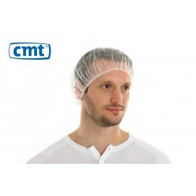 Haarnetjes Bouffant Caps (plat), kleur wit, maat universeel (doos 10 x 100 stuks)