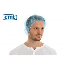 Haarnetjes Bouffant Caps (plat), kleur blauw, maat universeel (doos 10 x 100 stuks)