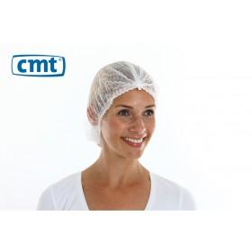 Haarnetjes ClipCap wokkel, kleur wit, maat L (pak 100 stuks)