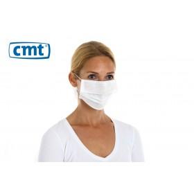 CMT Chirurgisch mondmaskers met oorelastiek, 3-laags, kleur wit (dispenserdoos 50 stuks)