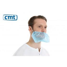 Baardmaskers met oorelastiek non-woven, kleur blauw (doos 10 x 100 stuks)