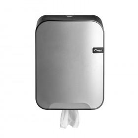 Cleen Quartz Poetsroldispenser | Midi | kleur zilver/zwart