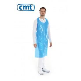 CMT Scheurschort PE op blok 125 x 80 cm, 20 my, kleur blauw (doos 10 x 100 stuks)
