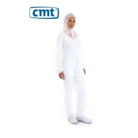 CMT Wegwerp Coverall PP, kleur wit, maten M t/m XXL (doos 50 stuks)