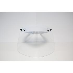 Covid-19 Gelaatsscherm, kleur wit met transparante kap