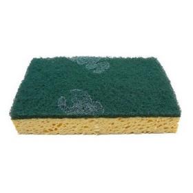 3M Scotch-Brite Schuursponzen Cellulose SB740/10, kleur geel/groen (folie 10 stuks)