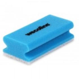 Wecoline Schuursponzen met handgreep, kleur blauw/wit (pak 10 stuks)