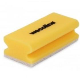 Wecoline Schuursponzen met handgreep, kleur geel/wit (pak 10 stuks)