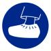 Pictogram schoenovertrek verplicht 200 mm (bord PP)